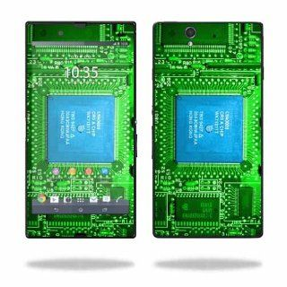 MightySkins Protective Vinyl Skin Decal Cover for Sony Xperia Z 4G LTE T Mobile Sticker Skins Circuit Board Cell Phones & Accessories