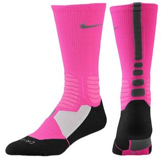 Nike Hyper Elite Basketball Crew Socks   Mens   Basketball   Accessories   Pink Foil/Black/Dark Grey