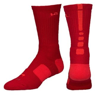 Nike LeBron Elite Basketball Crew   Mens   Basketball   Accessories   Gym Red/Light Crimson