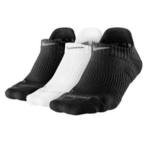 Nike 3 Pack Dri Fit Cush No Show Socks   Womens   Training   Accessories   Black/White