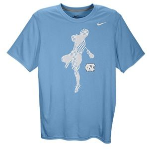 Nike Lax Dri Fit College Legend T Shirt   Mens   Lacrosse   Clothing   North Carolina Tar Heels   Light Blue