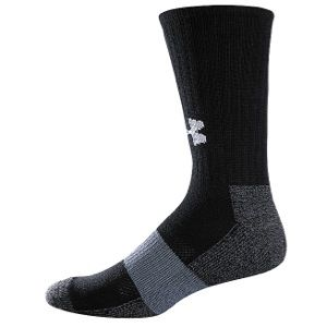 Under Armour Performance Crew Socks   Mens   Football   Accessories   Black