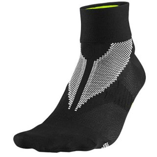 Nike Hyper Lite Elite Running Quarter Socks   Running   Accessories   Black/Volt