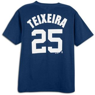 Majestic MLB Name and Number T Shirt   Mens   Baseball   Clothing   New York Yankees   Teixeira, Mark   Navy