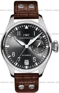 IWC Classic Pilot Big 18kt White Gold Brown Mens Watch IW500402 IWC Watches