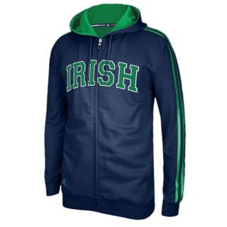 adidas College Statement Full Zip Hoodie   Mens   Basketball   Clothing   Notre Dame Fighting Irish   Navy/Fairway