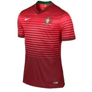 Nike Home Match Shortsleeve Jersey   Mens   Soccer   Clothing   Portugal   Team Red/Action Red/Pine Green/Football White
