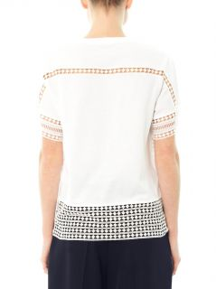 Diamond lace cotton T shirt  Chloé