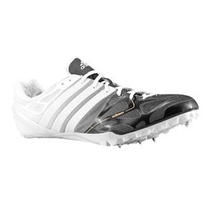 adidas adiZero Prime Accelerator   Mens   Track & Field   Shoes   Black/Running White/Silver Zest