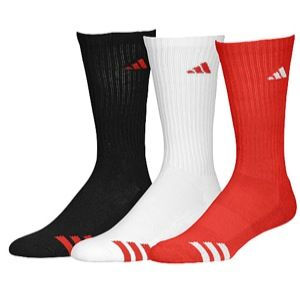 adidas 3 Stripe 3 Pack Crew Socks   Mens   Training   Accessories   University Red/White/Black