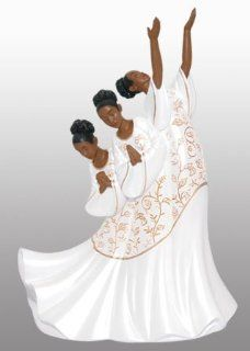 African American Praise Dancer Figurine Giving Praise   Collectible Figurines