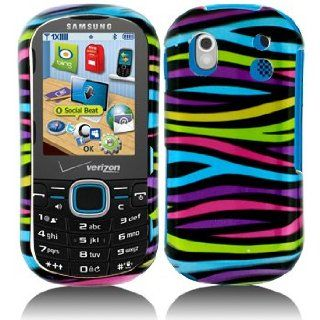 Cuffu   Rainbow Zebra   Samsung U460 Intensity 2 (NOT FOR INTENSITY 1) Case Cover + Screen Protector (Universal) Makes Perfect Gift In Only One LOWEST Shipping Rate .98   Goes With Everyday Style And Apparel