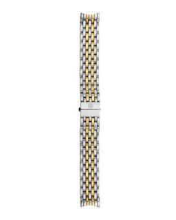 18mm Serein 7 Link Two Tone Gold Bracelet Strap   MICHELE   Gold/Silver (18mm )