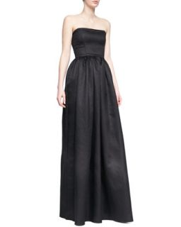 Womens Mykel Strapless Crepe Gown   Black Halo Eve   Black (0)