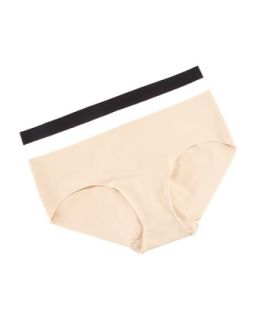 Womens Cotton Bikini Briefs   Commando   Nude (SMALL/MEDIUM)