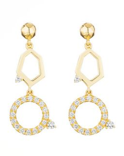 Jackson Yellow Gold Diamond 2 Drop Earrings   Mimi So   Yellow