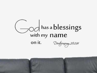 God has a blessings. Deuteronomy 281 14 Vinyl Wall Art Decal Sticker Home Decor