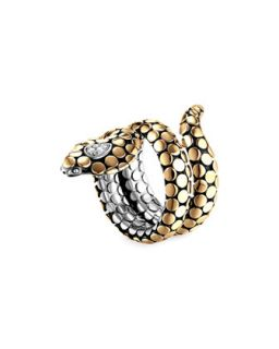 Dot Gold Plate & Silver Cobra Ring   John Hardy   Silver/Gold (7)