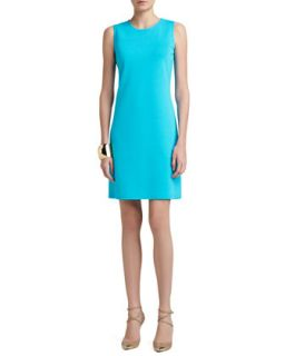 Womens Milano Knit Jewel Neck Trapeze Mod Dress   St. John Collection