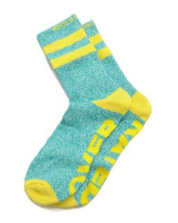 Over Rated Mens Socks, Green/Yellow   Arthur George by Robert Kardashian