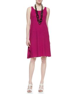 Organic Cotton Hemp Twist Sleeveless Dress, Womens   Eileen Fisher   Cerise
