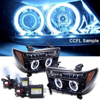 Eautolight 8000k Slim Xenon HID Kit + 07 11 Toyota Tundra Ccfl Halo LED Projector Headlights Automotive