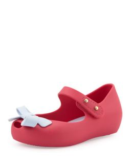 Mini Ultragirl Bow Jelly Flats, Pink   Melissa Shoes   Pink (5)