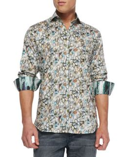 Mens G David Multi Jewel Print Sport Shirt   Bogosse   Multi (2/S)