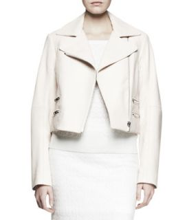 Womens Vespa Leather Moto Jacket   Rag & Bone   Blush (0)