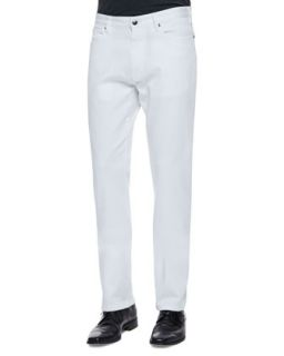 Mens Regular Fit Denim Jeans, White   Zegna Sport   White (32)