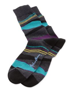 Waves Mens Socks, Charcoal   Arthur George by Robert Kardashian   Charc