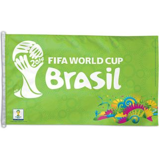 Premiership Soccer FIFA World Cup 2014 Premium Soccer Fan Flag (500 93014)