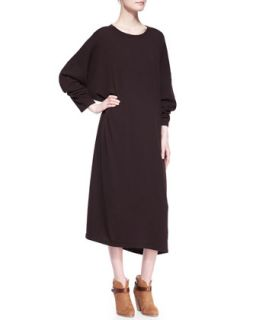 Womens Round Neck Cashmere Dress, Port   eskandar   Port (ONE SIZE)