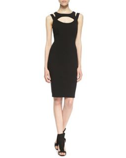 Womens Elva Cutout Sheath Dress, Black   Charlie Jade   Black (SMALL)