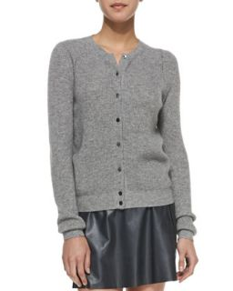 Womens Ribbed Knit Button Front Cardigan   Vince   Heather slate (MEDIUM)