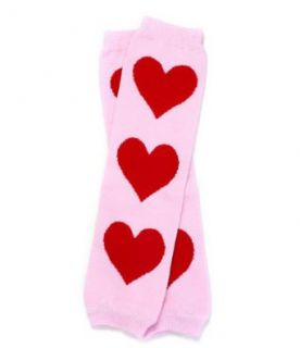 juDanzy baby girls and toddler Red Sweet Hearts print leg warmers Clothing