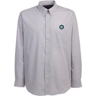 Antigua Seattle Mariners Mens Republic Button Down Long Sleeve Dress Shirt