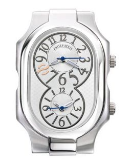 Large Signature Stainless Steel Watch   Philip Stein   Gray (LARGE )