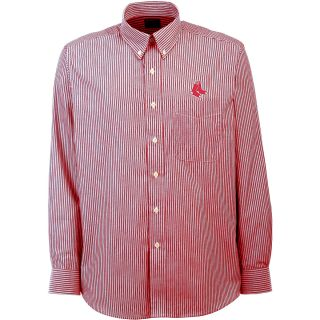 Antigua Boston Red Sox Mens Republic Button Down Long Sleeve Dress Shirt