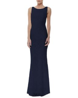 Womens Sachi Open Back Lace Gown   Alice + Olivia   Navy (0)