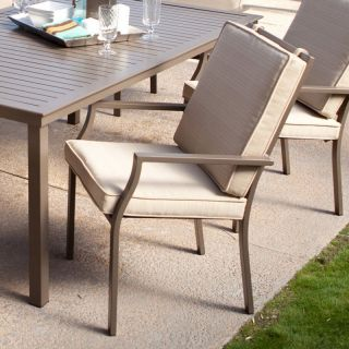 Coral Coast Bellagio Cushioned Dining Chair   Set of 6   Outdoor Dining Chairs