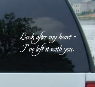 "8"" LOOK AFTER MY HEART I'VE LEFT IT WITH YOU   Twilight   Edward Cullen Vinyl Decal Sticker Automotive"