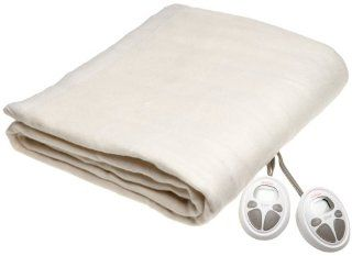 Sunbeam Imperial Nights ComfortSet Digital Controller Heated Electric Queen Blanket, Seashell
