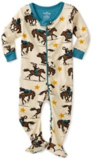 Hatley   Baby Boys Infant Cowboys All Over Footed Coverall, Natural, 6 12 Months Clothing