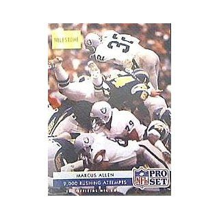 1992 Pro Set #27 Marcus Allen MILE/2, 000 Rushing Attempts at 's Sports Collectibles Store