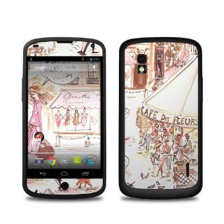 Paris Makes Me Happy Design Protective Decal Skin Sticker (High Gloss Coating) for LG Nexus 4 E960 Cell Phone Cell Phones & Accessories