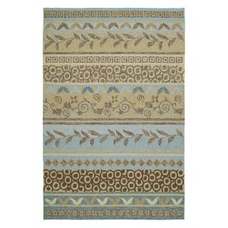 Kaleen Home and Porch Idle Hour 2028 34 Indoor/Outdoor Area Rug   Glacier   Area Rugs