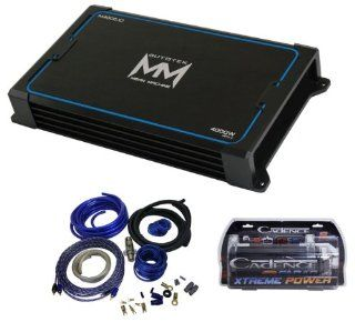Package Autotek M4000.1d 4000 Watt Mean Machine Series Mono Channel Class D Car Amplifier + Cadence Wk41 Complete Wiring Kit + Cadence Fxc2d 2 Farad/12 Volt Digital Power Capacitor  Vehicle Mono Subwoofer Amplifiers