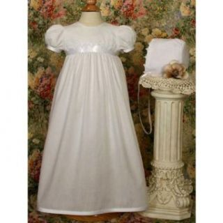 Little Things Mean A Lot Women's Danielle Christening Gown with Lace Trim Clothing