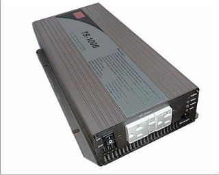 MEAN WELL TS 1000 112 12 VOLT 1000 WATT TRUE SINE WAVE DC / AC INVERTER WITH DUAL GFCI OUTLETS  Vehicle Power Inverters